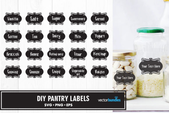 Print on Demand: Pantry Label Graphic Crafts By vectorbundles
