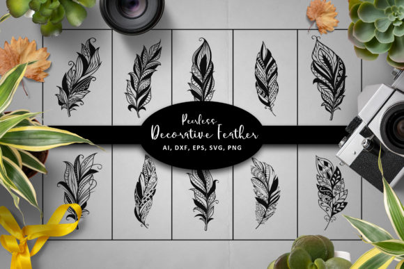 Peerless Feathers SVG Graphic Crafts By AllmoStudio