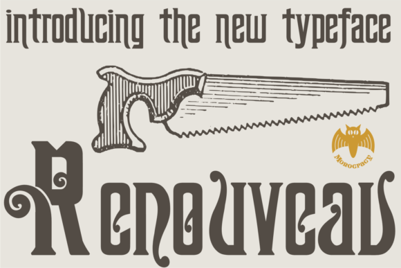 Print on Demand: Renouveau Display Font By Intellecta Design