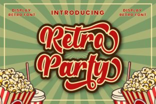 Print on Demand: Retro Party Display Font By putracetol 1