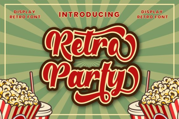 Print on Demand: Retro Party Display Font By putracetol