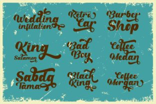 Print on Demand: Retro Party Display Font By putracetol 6
