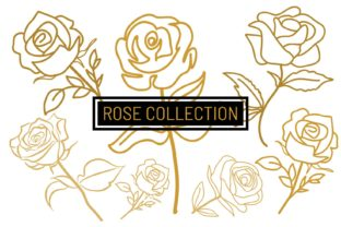 Print on Demand: Rose Branches Vector Cutout Graphic Crafts By PatternHousePk