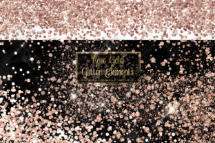 Print on Demand: Rose Gold Glitter Elements Graphic Illustrations By Digital Curio
