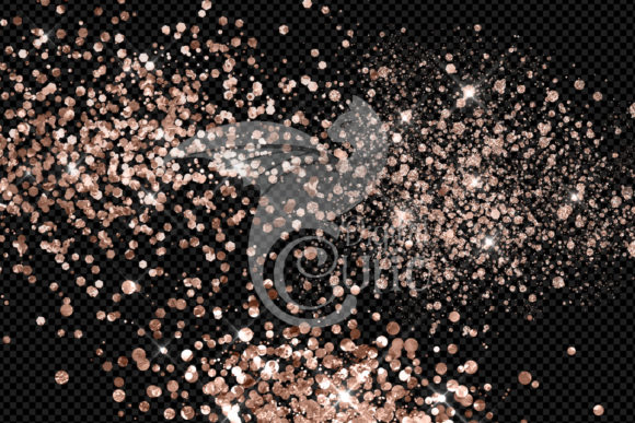 Rose Gold Glitter Elements Graphic Download