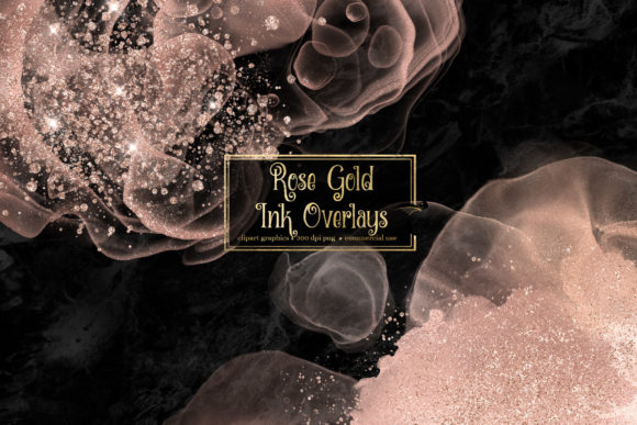 Rose Gold Ink Overlays Graphic