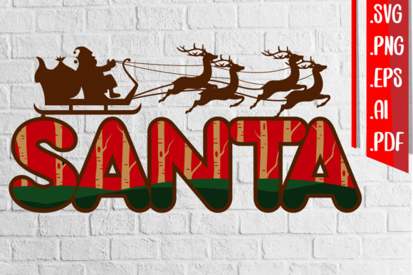 Santa 3D Layered Cut Svg Eps Ai Png File Graphic