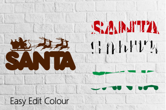 Santa 3D Layered Cut Svg Eps Ai Png File Graphic Download