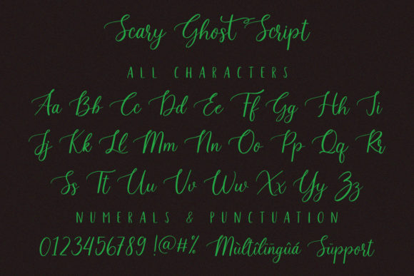 Scary Ghost Font Download