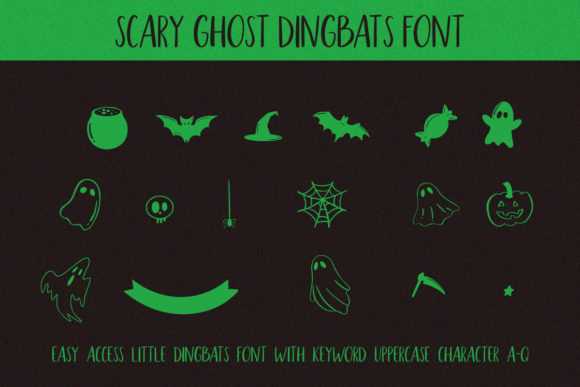 Scary Ghost Font Preview