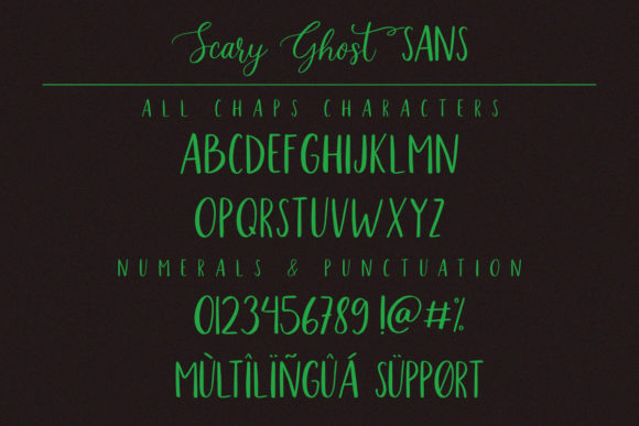 Scary Ghost Font Downloadable Digital File