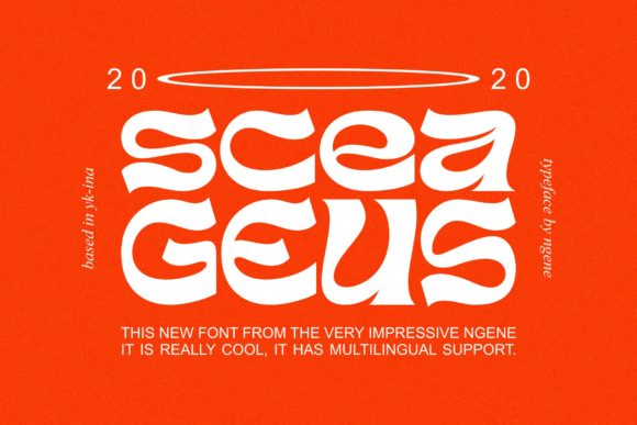 Print on Demand: Sceageus Display Font By Ngene