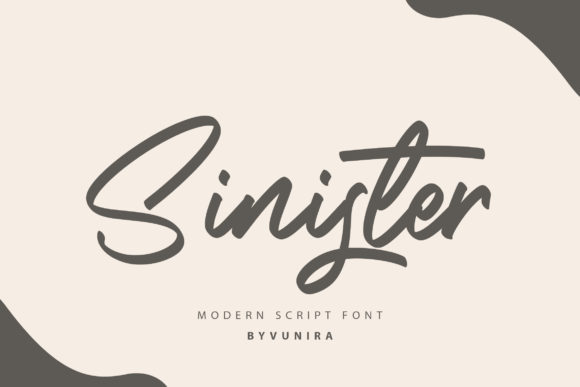 Print on Demand: Sinister Script & Handwritten Font By Vunira