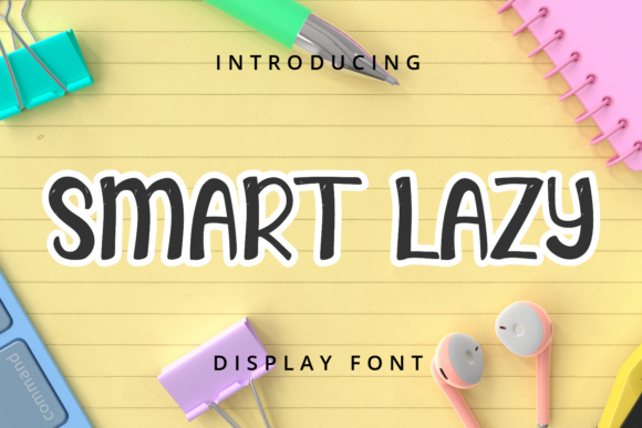 Print on Demand: Smart Lazy Display Font By Planetz studio