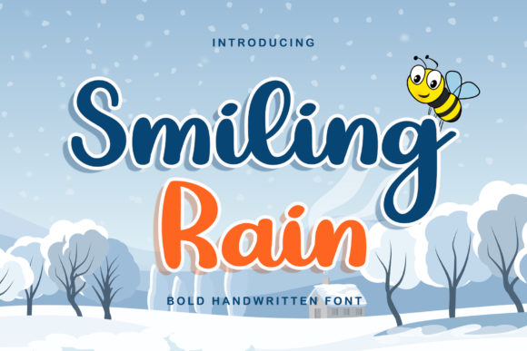 Print on Demand: Smiling Rain Script & Handwritten Font By airotype