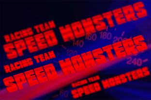 Print on Demand: Speed Monsters Display Font By teguh pranata