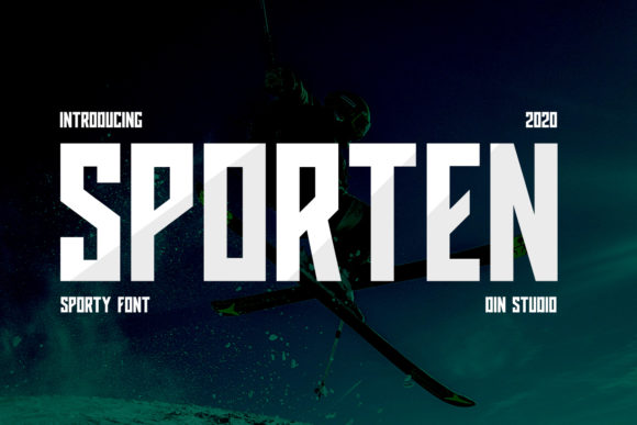 Print on Demand: Sporten Display Font By Din Studio
