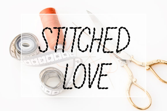 Print on Demand: Stitched Love Display Font By Vladimir Carrer