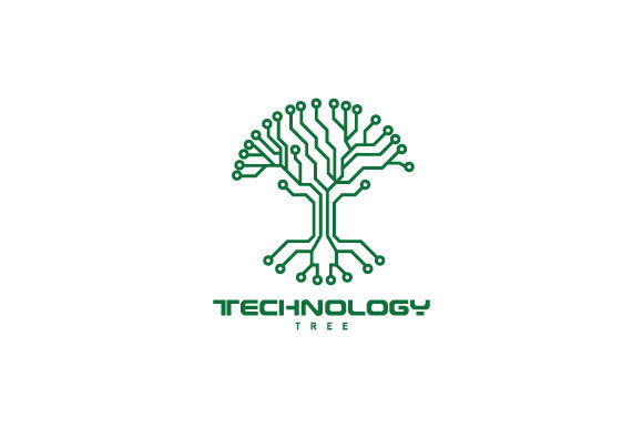Print on Demand: Technology Tree Logo Design Inspiration Graphic Logos By Prosperos