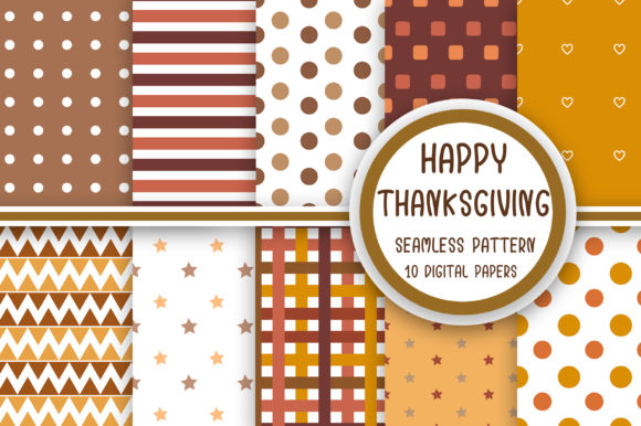 Thanksgiving Seamless Pattern Graphic Patterns By PearlyDaisy