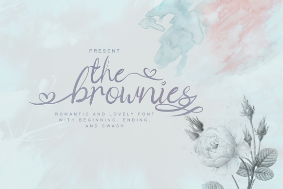 Print on Demand: The Brownies Script & Handwritten Font By DLetters.std