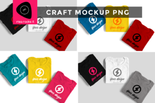 Three Folded Tees Craft PNG Mock Up Graphic Product Mockups By RisaRocksIt