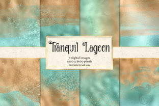 Print on Demand: Tranquil Lagoon Digital Paper Graphic Textures By Digital Curio
