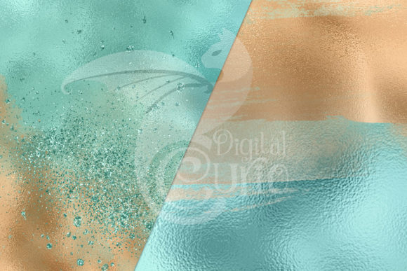Tranquil Lagoon Digital Paper Graphic Design