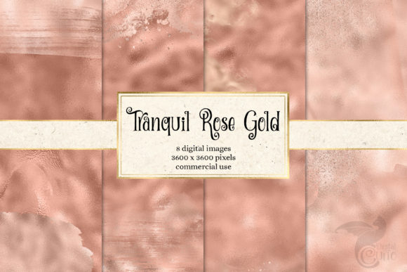 Print on Demand: Tranquil Rose Gold Digital Paper Graphic Textures By Digital Curio