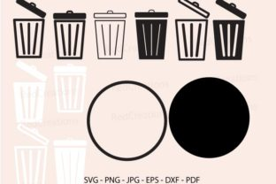 Trash Svg, Trash Can, Garbage Can Graphic Crafts By RedCreations