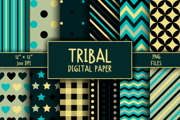 Print on Demand: Tribal Pattern Digital Paper Graphic Patterns By atlasart