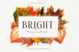 Watercolor Autumn Leaves Thanksgiving Graphic Illustrations By Olga Koelsch