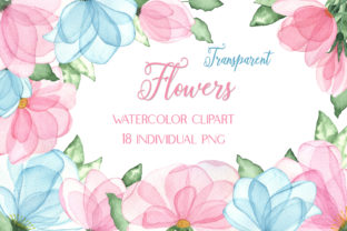 Watercolor Clipart Transparent Flowers Graphic Illustrations By outlander1746