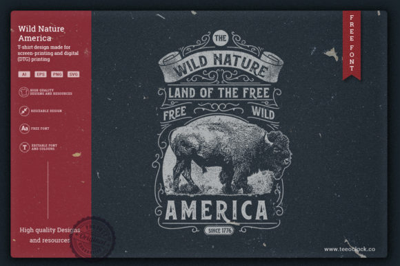 Wild Nature America T-shirt Graphic Illustrations By teeoclock.co