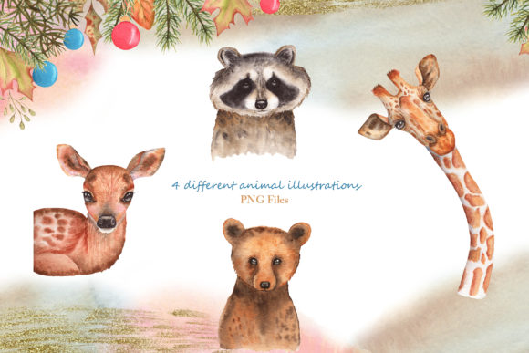 Winter Friends Watercolor Collection Graphic Item