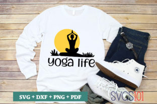 Yoga Life SVG Graphic Crafts By svgs101