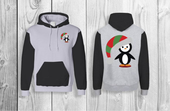 Christmas Penguin Graphic Crafts By Digital Creations Art Studio