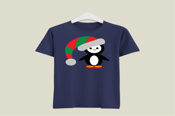 Christmas Penguin Graphic Preview