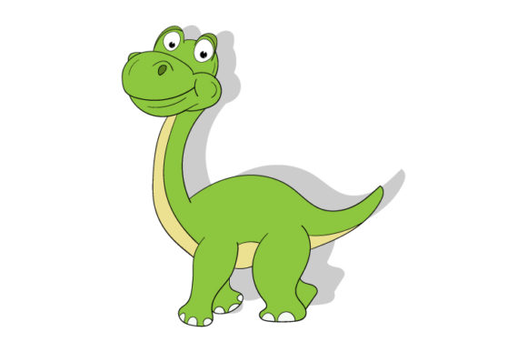 Print on Demand: Cute Green Dinosaur Graphic Illustrations By curutdesign