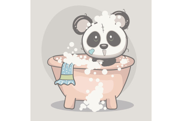 Cute Panda Baby Shower Graphic Illustrations By maniacvector