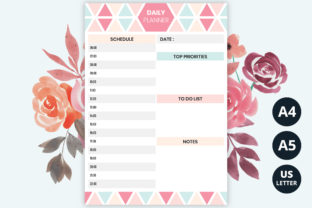 Daily Planner Printable Graphic Print Templates By medelwardi