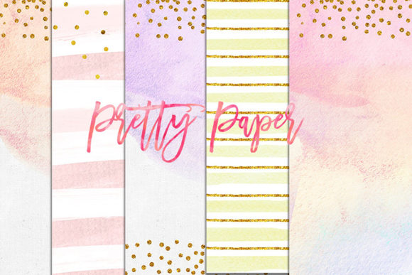 Print on Demand: Digital Download Watercolor, Clip Art Graphic Backgrounds By SunflowerLove