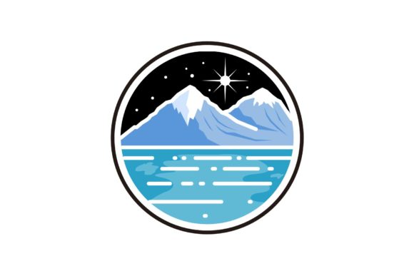 Night Winter Mountains Graphic Illustrations By artpray