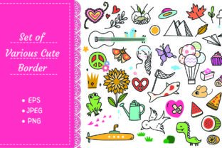 Set of Cute Doodle on White Background Graphic Illustrations By Big Barn Doodles