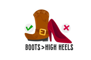 Boots > High Heels Cowgirl Craft Cut File By Creative Fabrica Crafts