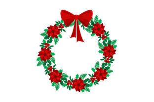 Christmas Wreath Christmas Craft Cut File By Creative Fabrica Crafts 1