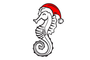 Christmas Seahorse Christmas Craft Cut File By Creative Fabrica Crafts