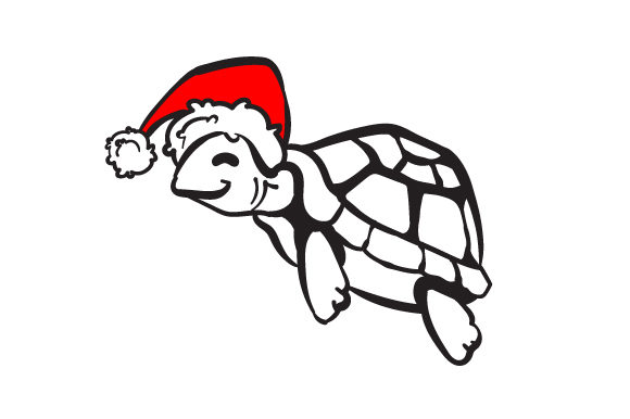 Christmas Sea Turtle Christmas Craft Cut File By Creative Fabrica Crafts