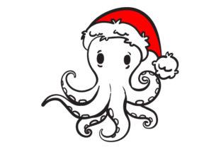 Christmas Octopus Christmas Craft Cut File By Creative Fabrica Crafts