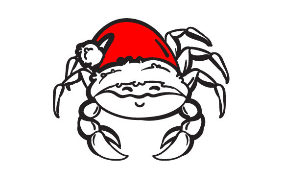 Christmas Crab Christmas Plotterdatei von Creative Fabrica Crafts